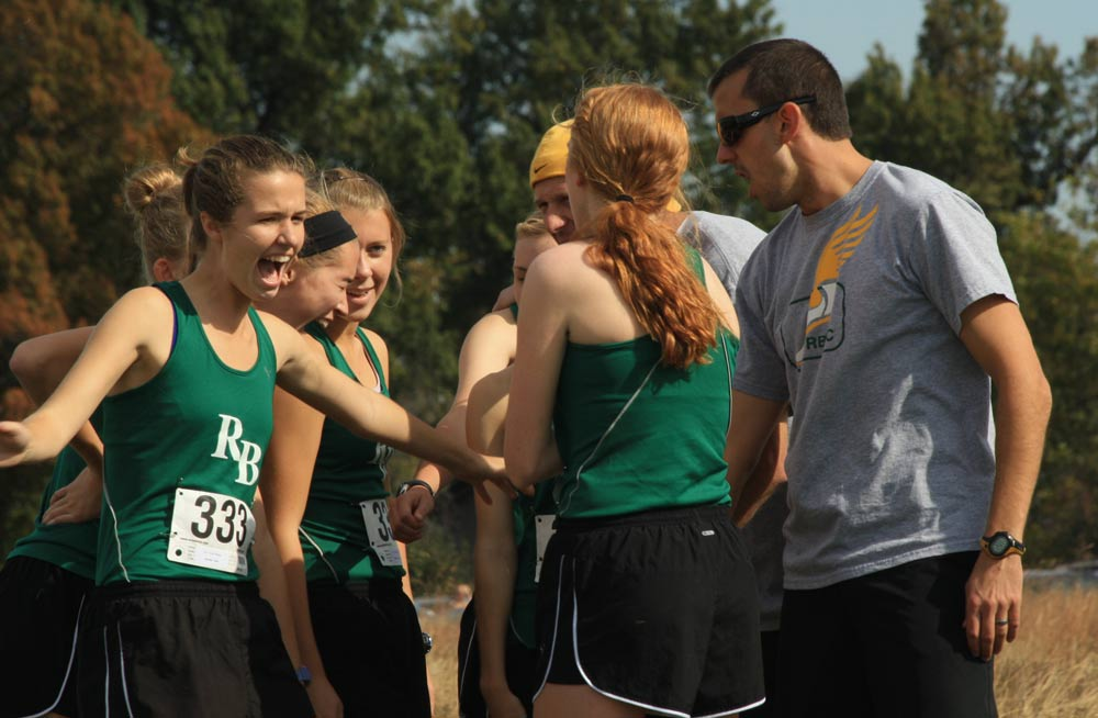 Getting rid of jitters: Cross country mentally prepares for district meet.