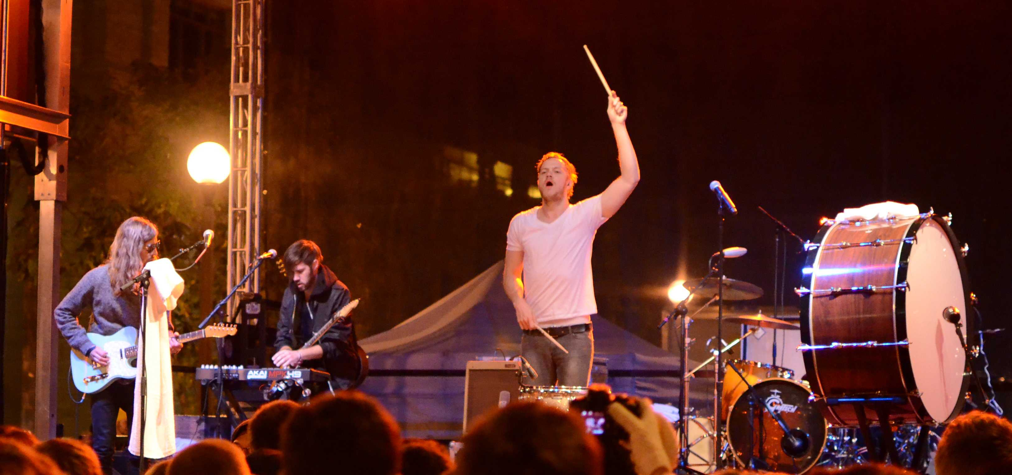 "Imagine Dragons gained fame from their hit ""It's Time,"" on their album ""Continued Silence EP."" The band released the EP on Valentines Day of 2012 and in the summer of this same year, they released another album, ""Night Visions."" Since then, Imagine Dragons' fan base has continued to grow all over the world. Photo by Patrick Smith"