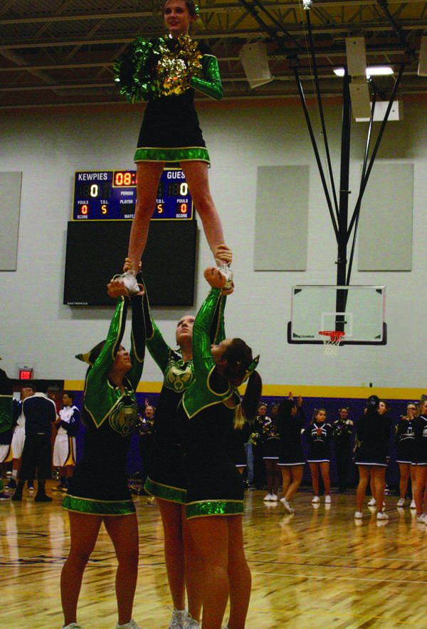 Cheerleaders risk injury, continue season