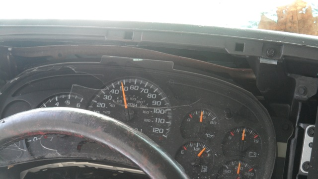 Mr. Kirchhofer had stopped in Warrenton, Mo. to refuel for the last 70 miles of his journey. When he saw this picture, he felt remorse for all the gas he had wasted, he said, because the dashboard showed that his tank was still full when the accident occurred. Photo courtesy of Hall Trice