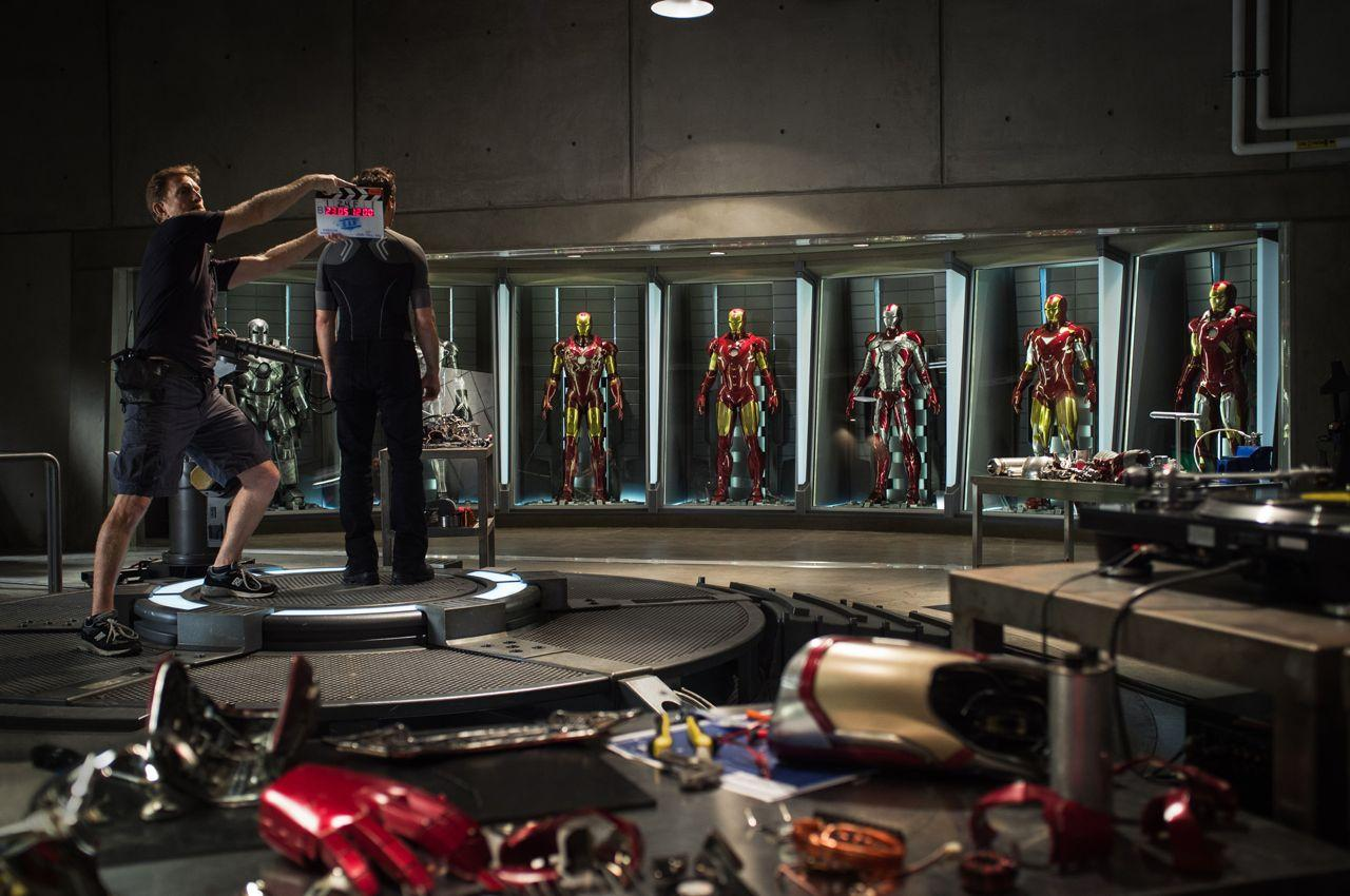 Iron Man 3 set. Photo used with permission from Marvel