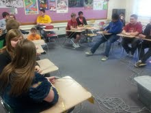 JCL members compete in Certamen 1, the level one Latin Quiz Bowl.