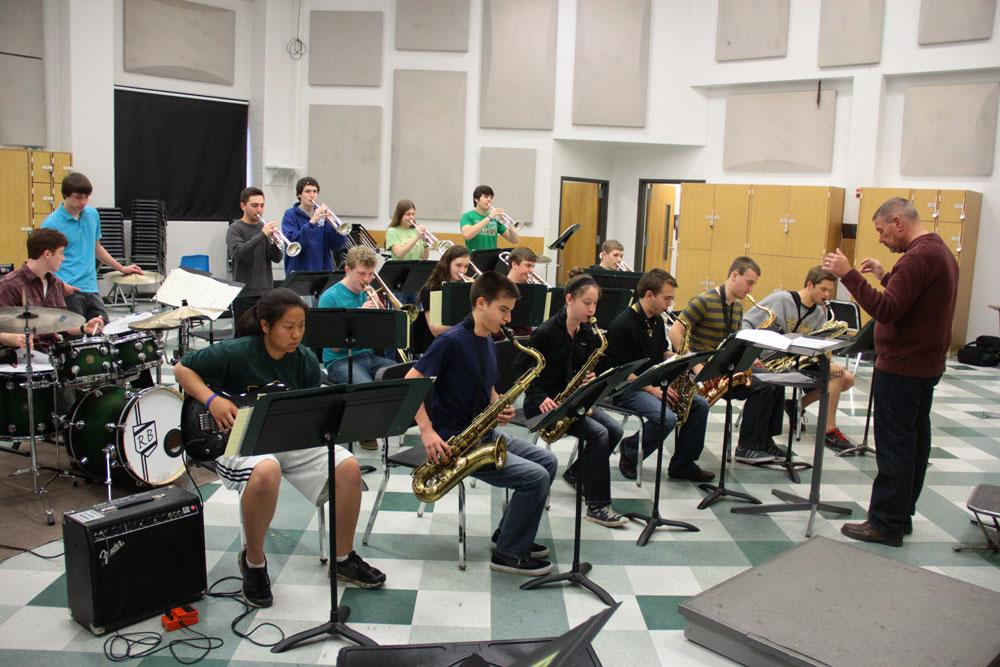 A new groove: Next year, all performing arts groups, including the jazz program, will increase in size with the arrival of freshmen. Photo by Asa Lory