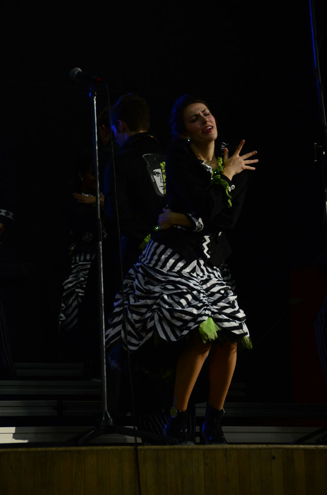 Senior Morgan Widhalm performs with City Lights. Photo by Mikaela Acton