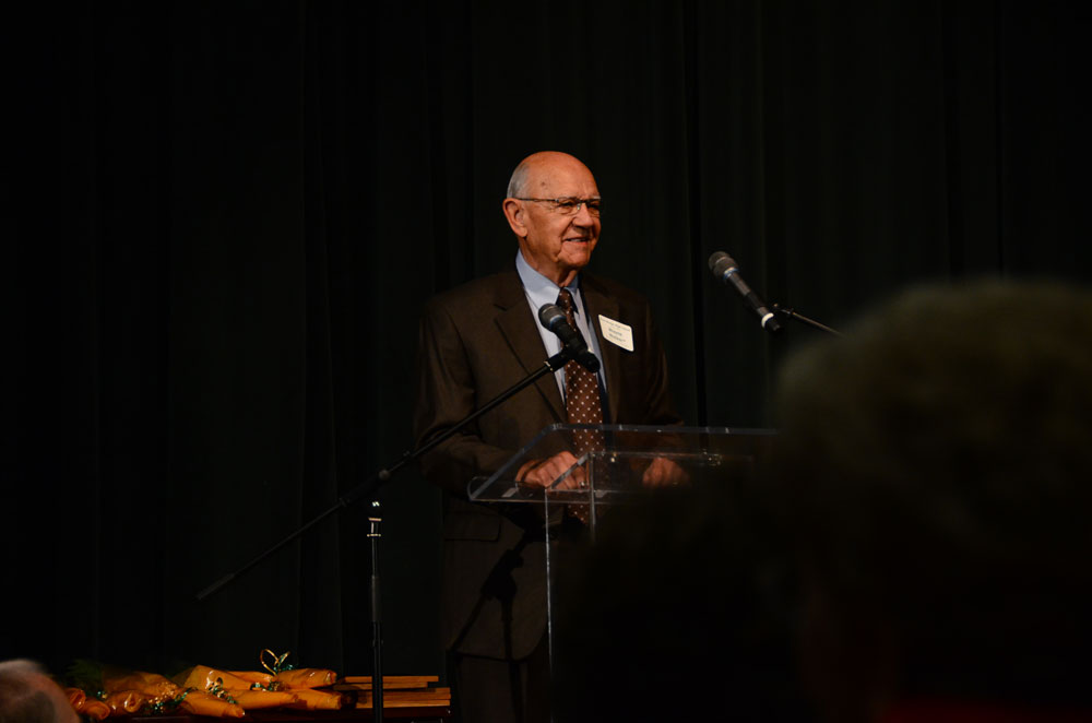 Wayne Walker, the first principal of RBHS, speaks about the first days at the school. Photo by Mikaela Acton
