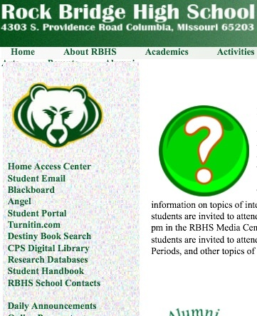 A few weeks ago, a new link labeled Blackboard appeared on the RBHS website.