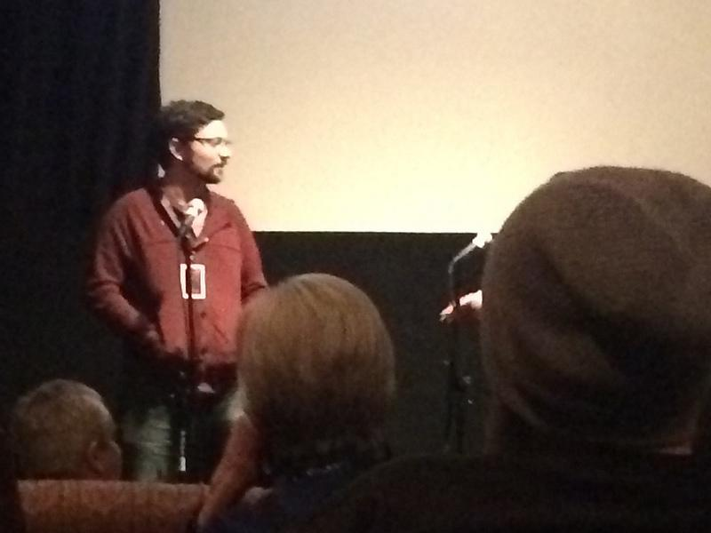 "Ryan Murdock, director and produce of ""Bronx Obama"" speaks after his film. Photo by Brayden Parker"