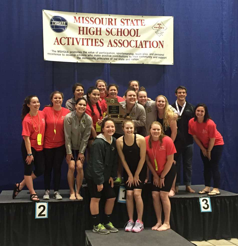 Girls' swimming makes splash in road to second straight state title