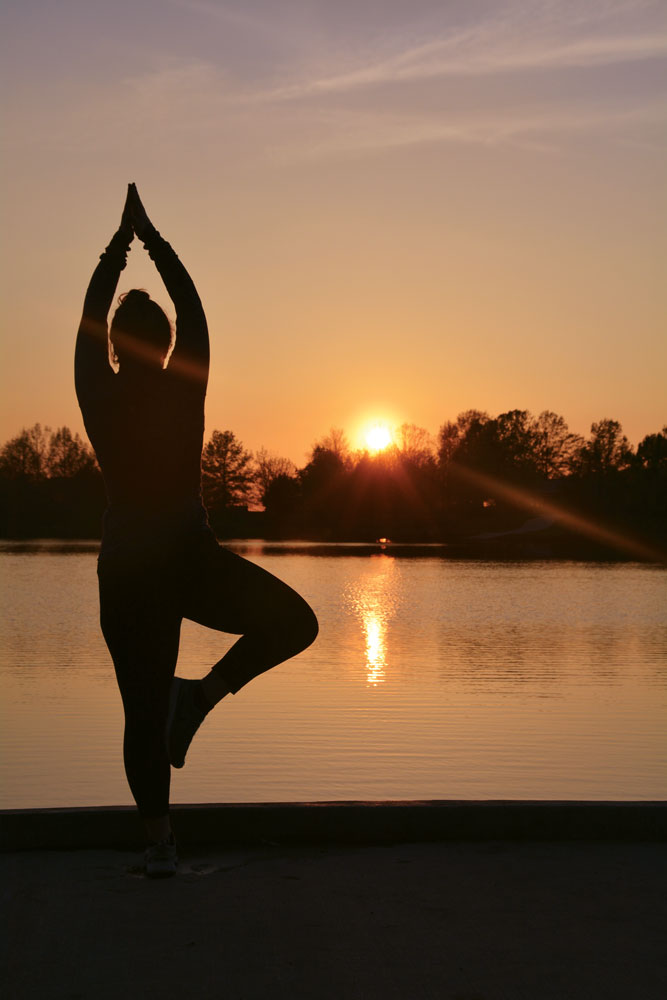 Yoga works to connect the mind, body