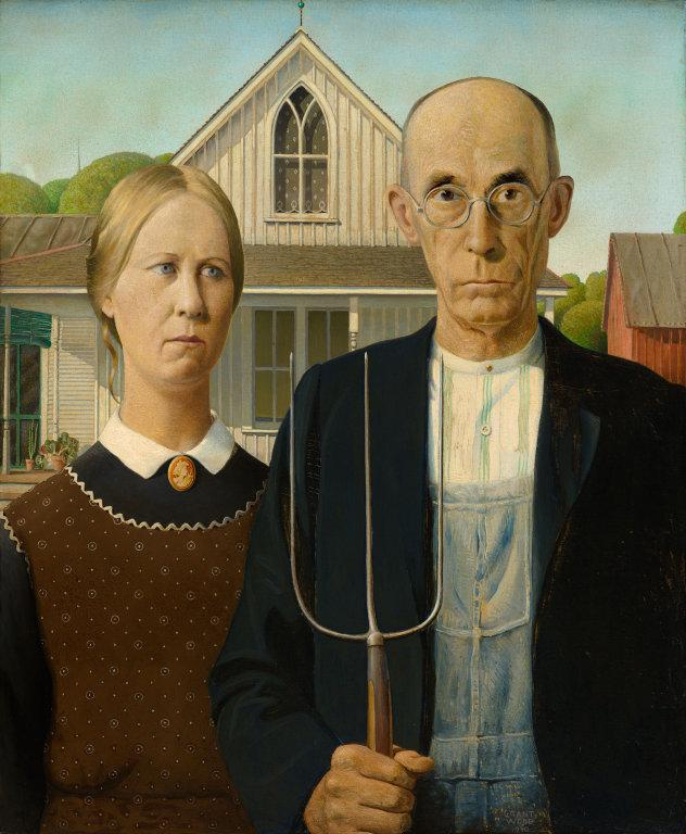 """American Gothic"" by Grant Wood. Photo by The Art Institute of Chicago."