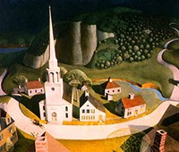 """The Midnight Ride of Paul Revere"" by Grant Wood. Photo by the Metropolitan Museum of Art."