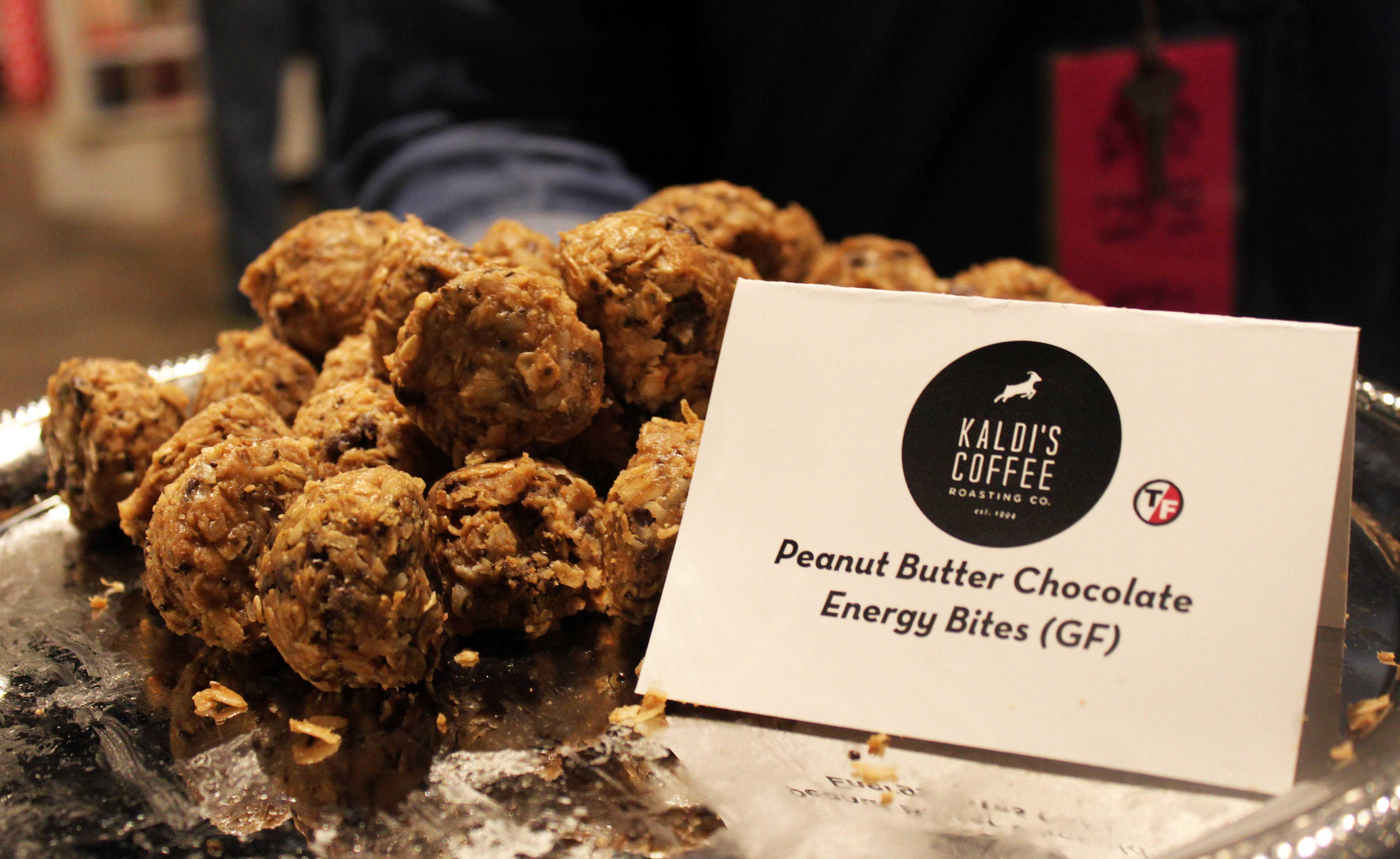 Kaldi's Coffee's simple peanut butter treats were a popular grab.