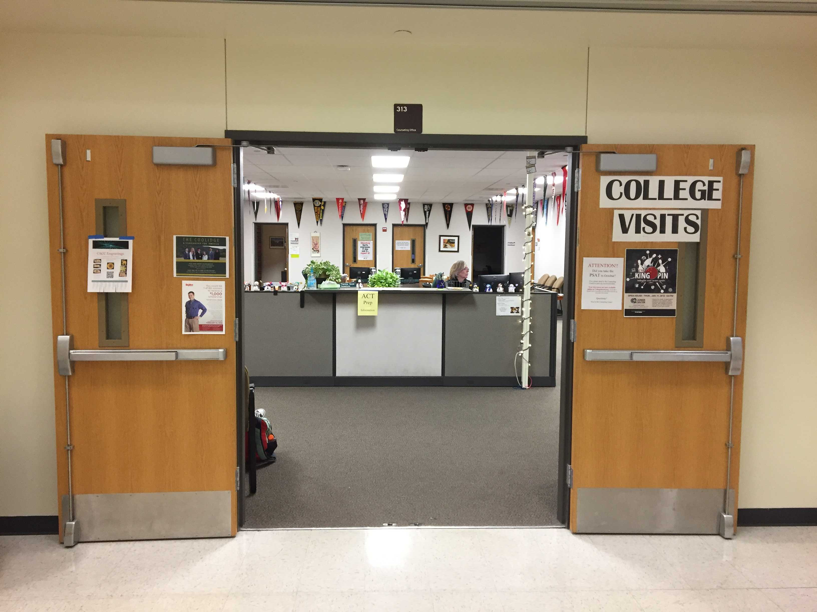 The entrance to the counseling office