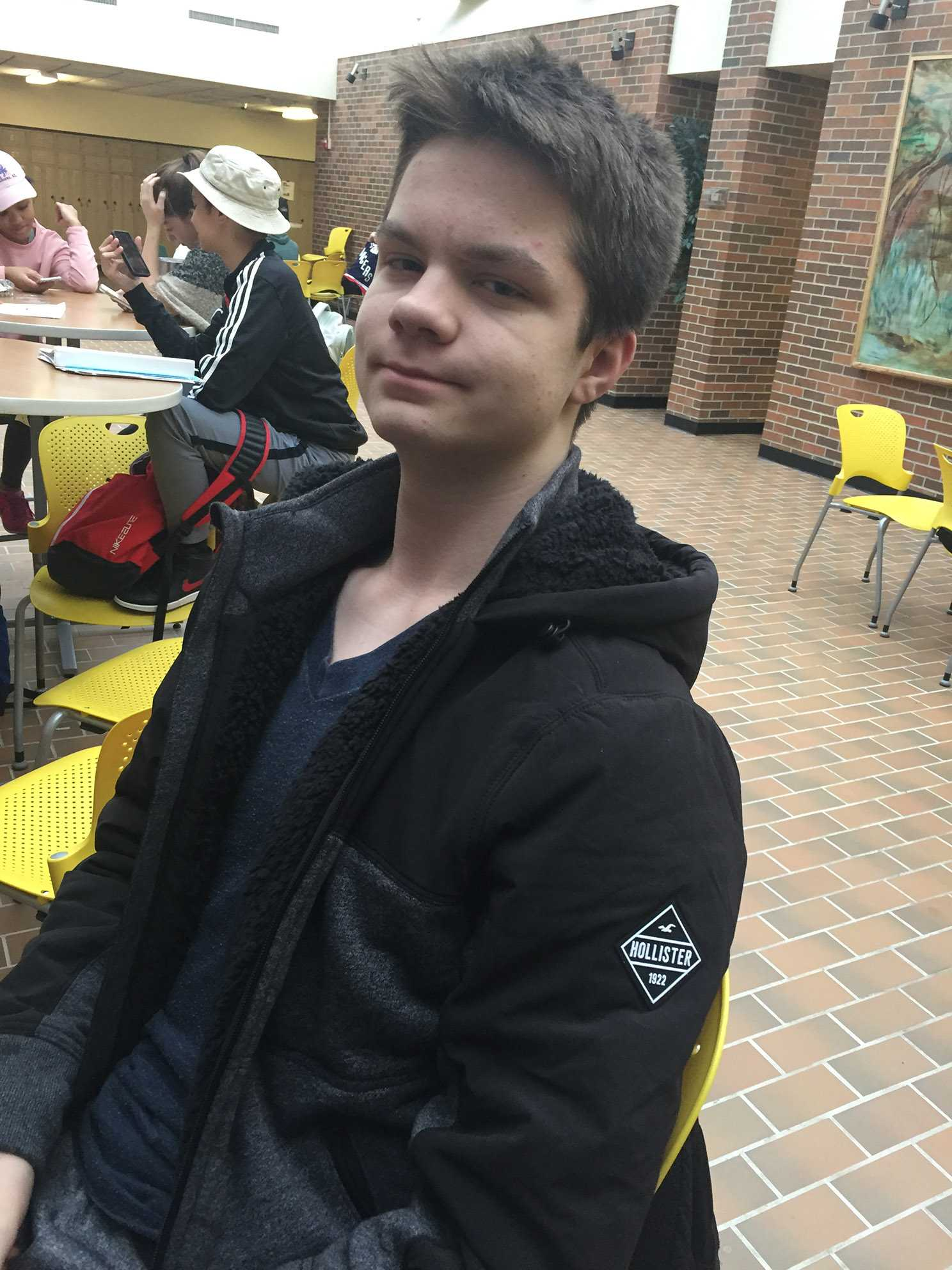 """""""I would've sided with the student because it is within his First Amendment rights and I feel he can express them even if they may be illegal."""" --Andrew Barnes, freshman"""