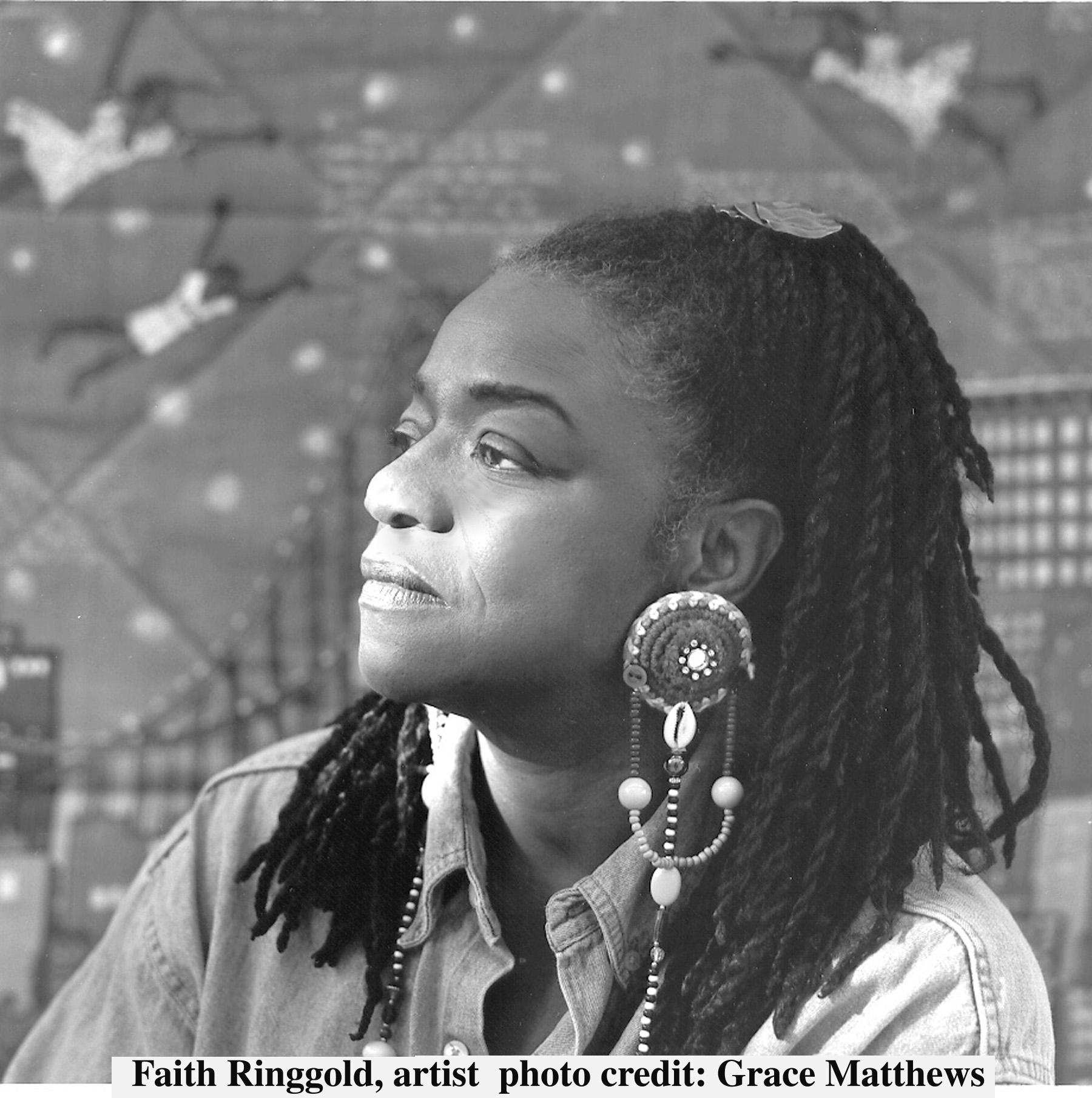 Faith Ringgold Source:http://www.faithringgold.com/ringgold/bio.htm Image used under fair use