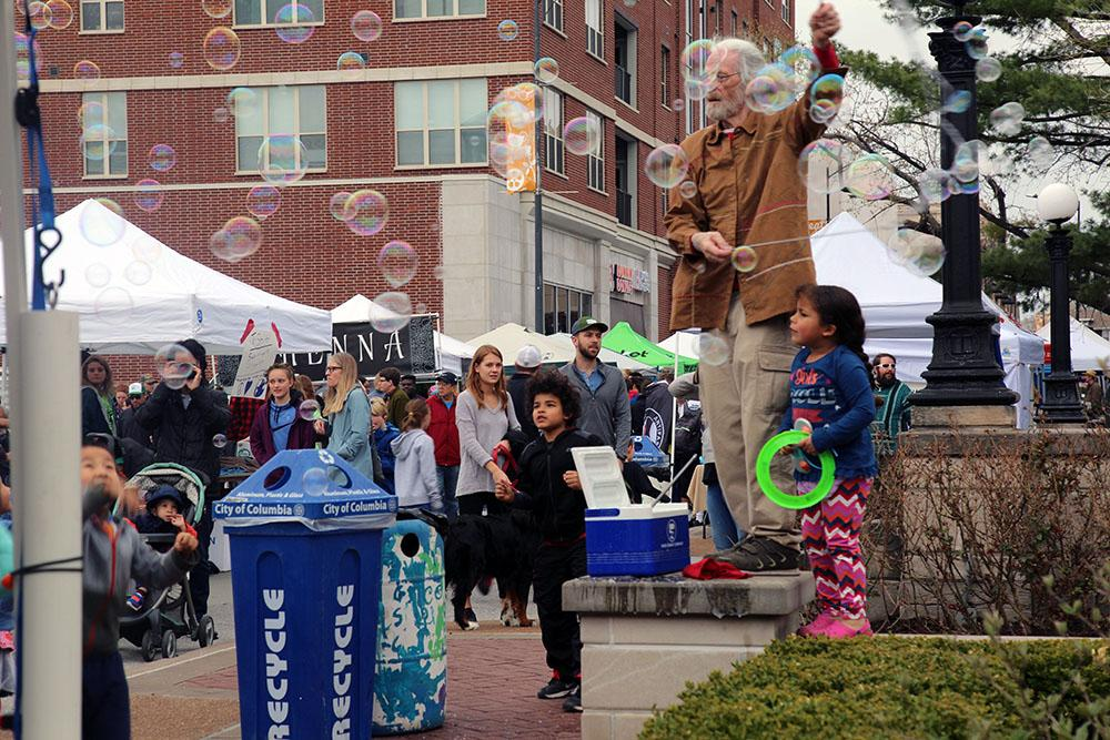 Is it really an Earth Day festival without bubbles?