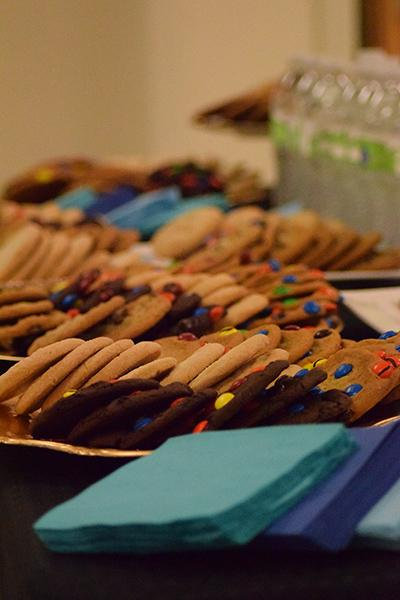 The Art Department treated visitors to cookies and refreshments as they walked through the show.