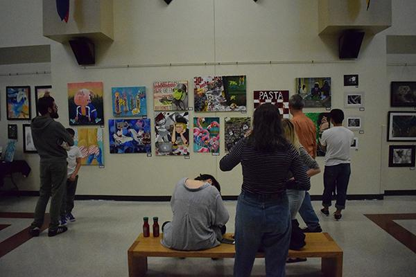 Senior Jadie Arnett had an entire wall devoted to her pieces, totaling to 28 entries.
