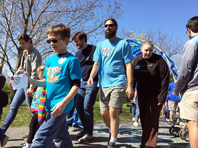Community members set off at 10 A.M. for the walk.