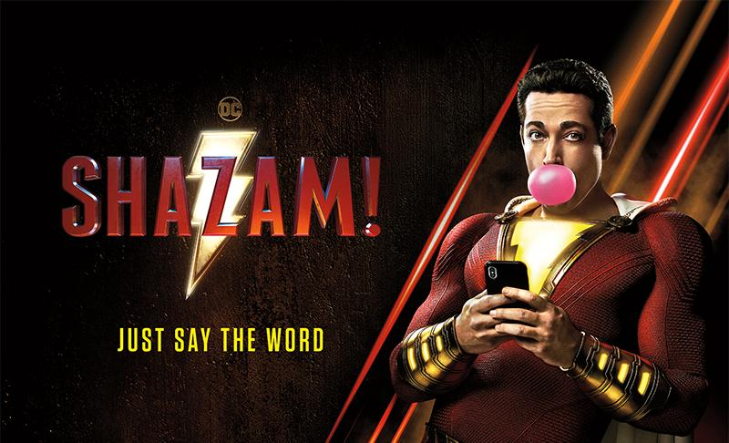 A section of the official poster for Shazam(2019)